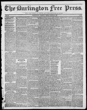 if Tit NOT TUB GLOBT OF OJBSAB BUT THE WBLFABB OP BOMB BURLINGTON, VERMONT, FRIDAY, MARCH 10, 1843. No. 41 VOL. XVI. WANTED,