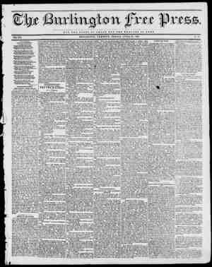 WW NOT TUB GLORY OF OJDSAR BUT TUB WELFARE OF BOMB. BURLINGTON, VERMONT, FRIDAY, APRIL 21, 1843. VOL. XVI. No. 47 From the