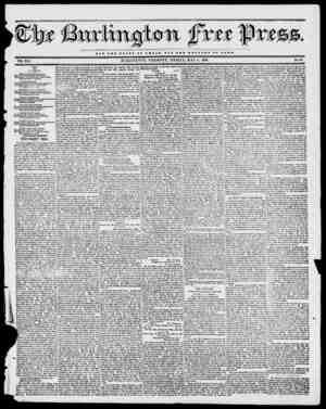 NOT THE OLOBT O T OJDSAB BOT TBB WBLPA8B OF BOMB VOL. XVI. BURLINGTON, VERMONT, FRIDAY, MAY 5, 1843. No. 49 MAY. IV...