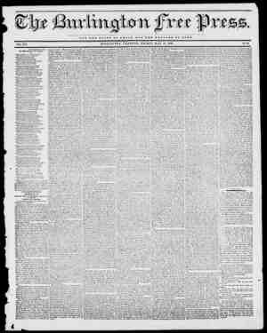 xtt tt RB OP ROMS VOL. XVI. BURLINGTON, VERMONT, FRIDAY, MAY 19, 1843. No. 51 NOT THE GLORY OP C S A It 11UT TUB W E L F A
