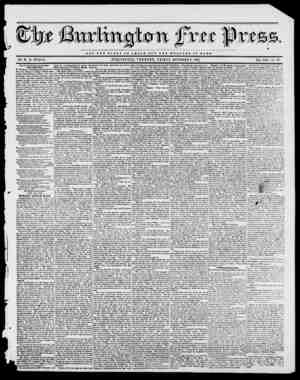 tee V. NOT TUB QLOBY OF OJDSAB BUT TUB WELFARE OF ROME BY H. B. STACY. BURLINGTON, VERMONT, FRIDAY, OCTOBER 0, 1843. VOL....