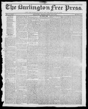xtt Wrt NOT THE GLORY OP CJBSAR BUT THE WELPAKE or ROME BY II. B. STACY. BURLINGTON, VERMONT, FRIDAY, JUL Y 12, 1844. GOD...