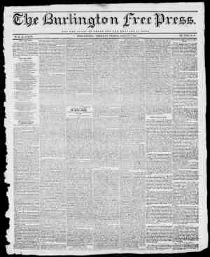 "--3 Jii. NOT THE GLORY OF CJESAK BUT TUB WELFARE OF ROIVIB BURLINGTON, VERMONT, FRIDAY, AUGUST 2, 1844. VOL. XYIII....X"". ."