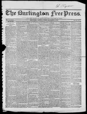 NOT TUB GLORY OF CJQSAB BUT TBB W H L r A B X2 OP BOMB BY H. B. STACY. BURLINGTON, V K M 0 N T, FRIDAY, SEPTEMBER 19, 1845.