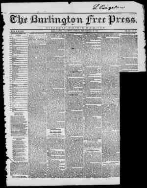 NOT TUB GLOAT OF 0 JD S A U O T I H I WBLFABS OF BOMB BY H. B. STACY. BURLINGTON, VERMONT, FRIDAY, SEPTEMBER 26, 1845. VOL.