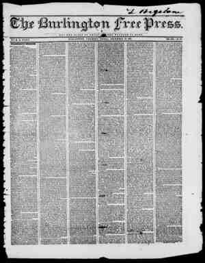 NOT T H P I. O T OF O M llAJJ BURLINGTON, VERMONT, FRIDAY, DECEMBER 12, 1845. VOL. XIX No. 28. B Y H. B. STACY. PRESIDENT...