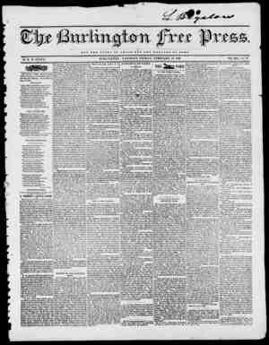 a V. NOT TUB GLOXIY OP OASAB BUT THB W E Z. r A B S OP BOMB BURLINGTON, VERMONT, FRIDAY, FEBRUARY 13, 1846. VOL. XIX No. 37.