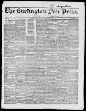 wctt NOT IHB OI.OB7 OP OASAB BUT TUB W B X. T A B B OP BOMB BY H. B. STACY. BURLINGTON, V Ell MONT, FRIDAY, MAYS, 1840. VOL.
