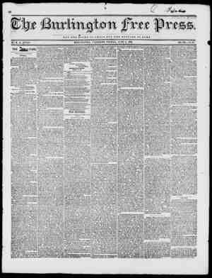 V 1 1. NOT THB Q J O R Y OF CaSAB,UT T X WBLFABB OF BOM BY H. B. STACY. BURLINGTON, VERMONT, FRIDAY, JUNE r, 1846. VOL XIX