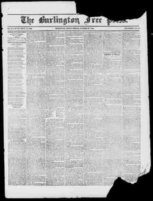 Vol. XX. XO. 29. Whole io. 1000. BURLIXUTOX, FRIDAY mORXIXG', OCTOBER 30, 1840. XEW SERIES, Xo. 1 8 BURLINGTON Fit BE PRESS,