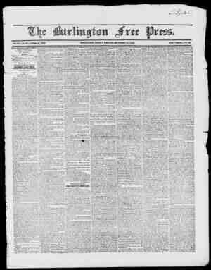 Vol.XX. ISo. 27. Whole 10. 1010. BUKIilXJTOW, FRIDAY IVIORlVIXtt, DECEMBER 18, 1840. NEW SERIES, No. 85 BURLINGTON FREE PRESS