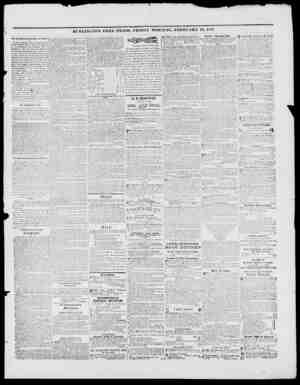 BURLINGTON FREE PRESS, FRIDAY MORNING, FEBRUARY 19, .1847. The Iturllngton Drawing Hook of Flower We have heretofore t.iken