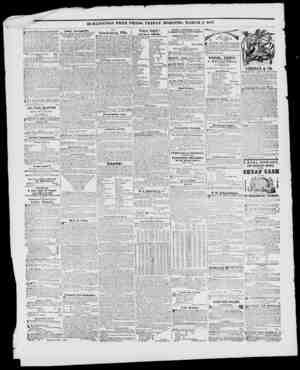 BURLINGTON FREE PRESS, FRIDAY MORNING, MARCH 5. 1847. Hands' SarwaiKirilln, TUT........... lt. Cmfnnl .vnTlMIII' Sil'.l...