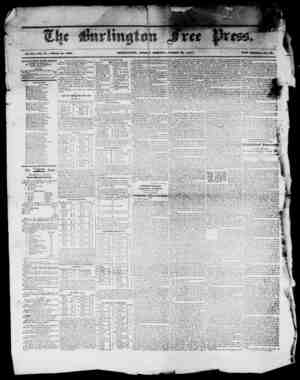 "I -J w"" miRIillVCJTO, FRIDAY MORIMiVG, MARCH SO, 18-1'. Vol. XX.Wo. 41. Whole No. 1030i WW . - 1 1 - ' 1 mj JURLINGTON FREE"