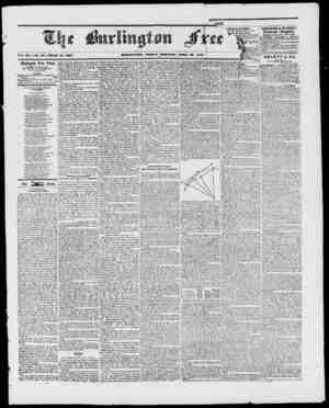 Vol. XX. IVo. 40. Whole Burlington Free Press, Published nt Burlington, Vl., By I. W. C. Cl.AIlKE, Editor and Proprietor....