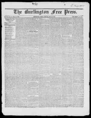 Vol. XX. No. 49 Whole IVo. 1088 nVRTiUVGTOW, FRIDAY IHOIliVIXtt, MAY 91, 1817. XEW SEItlES,. IV o. 4 7 Burlington Free Press,