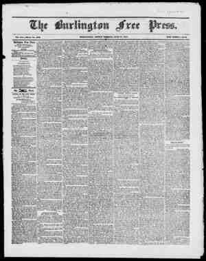 s .- , I s - ' .IV, Tol. XX. Whole No. 1013 BURLINGTON, FRIDAY MORjV'IIYG, JUNE 18, 1817. NEW SERIES, No..H Burlington Free