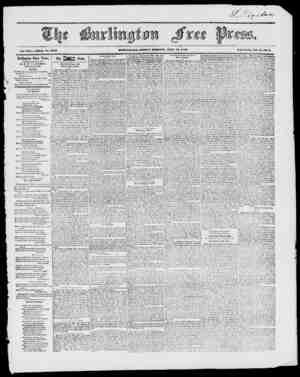 BURLINGTON, FKIDAY MORNING, JWMT 10, 1847. IVch- Series, Vol. ii No. 3. Vol. XXI. Whole No. lOlO Burlington Free Press,...