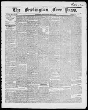 IHJItLICJTO, FRIDAY MOIWINU, JULY 3, IS 17. Vol. XXI. Whole No. 1017 IVcw Scries, Vol. a...IVo. 4. Burlington Free Press,...
