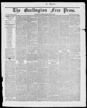 """BVltLINGTON, milfAY MORNIXCI, JULY , 1817. Vol. XVI. Whole No. I18 iVcw ScricN, Vol. a """"Xo. ff. Burlington Free Press,..."""