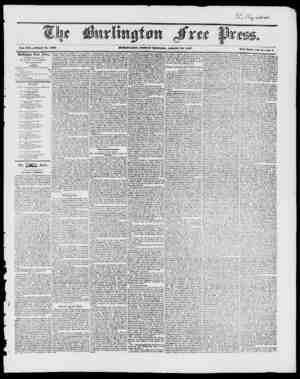 4 Vol. XXI. Whole No. 10.70 Burlington Free Press, Published at Burlington, Vl.,' li y D. W. O. C IA It ICi;, Uditor and...
