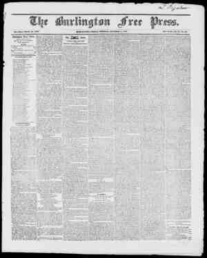 Vol. XXI.- Whole No. 1057 BURLINUTOIV, FRIDAY MORNING, OCTORGR 1, 1817. jVcw Scries, Vol. 3 No. 11. Burlington Free Press,