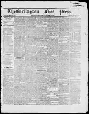 Vol. .(XI. Whole No. 1070 IIlJUfiIi(iTOi, FRIDAY MORN1NO, HUlKTIBER .11, 1847 IVcw Scricst, Vol. a j. 7. Burlington Free...