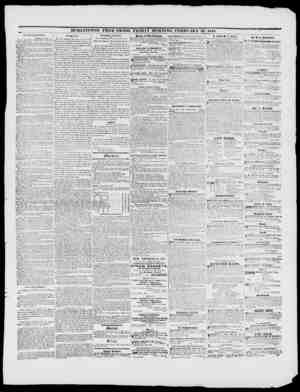 BURLINGTON FREE PRESS, FRIDAY MORNING, FEBRUARY 25, 1848. JTXXth coN-iiii:ss. AVAstns-a-rov, Fen. 1 1, Senate Huh. II. V....
