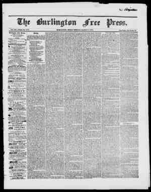 3. Vol. XXI. Whole No. Hi 81. nuuMXJTorv, friday hokia,, makch ir, 1848. IVcw Scries, Vol. 3 No. 38 Burlington -free Press.