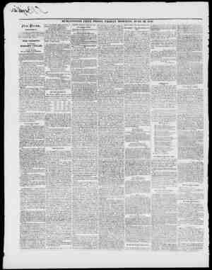 """BURLINGTON FREE PRESS, FRIDAY MORNING, .IUNH 2Z, 1848. jFrcc ))rc00f DIJIlMrtCTOff, It. """" In TtIK HAltK AND TIltiltWI.Kt)..."""