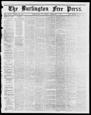fttrliitiitrttt VOL. XXVII WHOLE NO. 1,432. BURLINGTON, VT., FBIDAY, FEBRUARY 9, 1855. NEW SERIES, VOL. 9, NO. lllccklii...