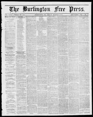 tfftt www V VOL. XXY1I WHOLE NO. 1,438. BURLINGTON, VT., FRIDAY, MARCH 23, 1855. NEW SERIES, YOL. 0, NO. 38. lUcckln JFvec