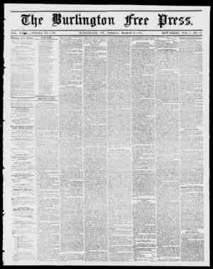 VOL. XXT WHOLE NO. 1,439. BURLINGTON, VT., FRIDAY, MARCH 30, 1855, NEW SERIES, VOL. 9, NO. 39. 1 w.T'yryyyrwr ttt f CCkin...