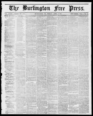 VOL. XXVII WHOLE NO. 1,4,40. BURLINGTON, VT., FRIDAY, APRIL 6, 1855. NEW SERIES, VOL, 9, NO. 40. lOccliln Jfrcc Dress....