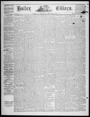 The Butler Citizen Gazetesi 3 Eylül 1879 kapağı