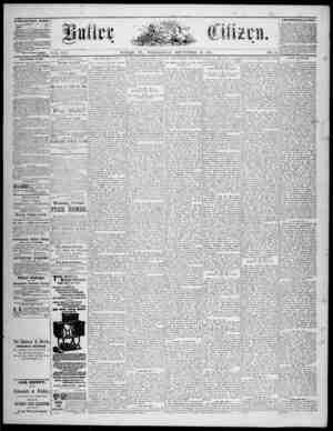 The Butler Citizen Gazetesi 10 Eylül 1879 kapağı