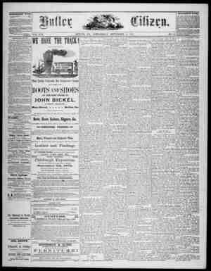 The Butler Citizen Gazetesi 17 Eylül 1879 kapağı