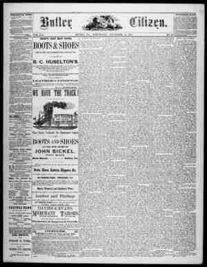 The Butler Citizen Gazetesi 24 Eylül 1879 kapağı