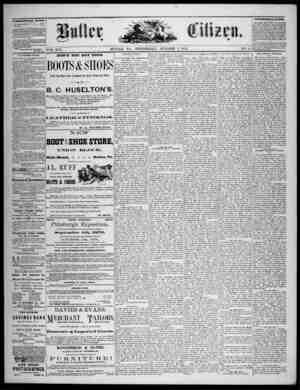 The Butler Citizen Gazetesi 1 Ekim 1879 kapağı