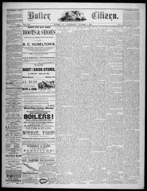 The Butler Citizen Gazetesi 8 Ekim 1879 kapağı
