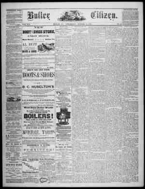 The Butler Citizen Gazetesi 15 Ekim 1879 kapağı