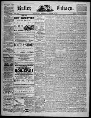 The Butler Citizen Gazetesi 22 Ekim 1879 kapağı