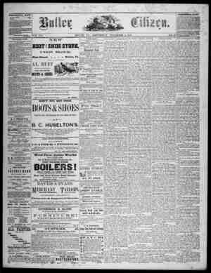 The Butler Citizen Gazetesi 5 Kasım 1879 kapağı