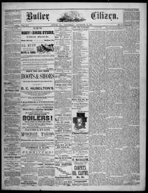 The Butler Citizen Gazetesi 12 Kasım 1879 kapağı