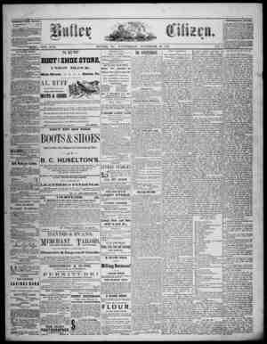 The Butler Citizen Gazetesi 19 Kasım 1879 kapağı