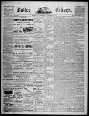 The Butler Citizen Gazetesi 26 Kasım 1879 kapağı