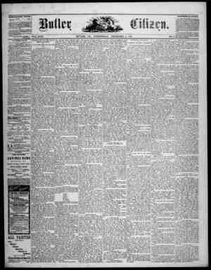 The Butler Citizen Gazetesi 3 Aralık 1879 kapağı