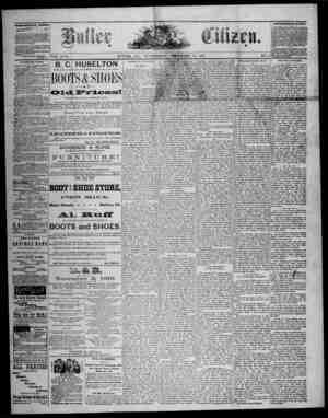 The Butler Citizen Gazetesi 10 Aralık 1879 kapağı