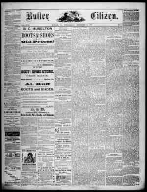 The Butler Citizen Gazetesi 17 Aralık 1879 kapağı