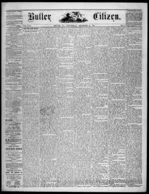 The Butler Citizen Gazetesi 24 Aralık 1879 kapağı
